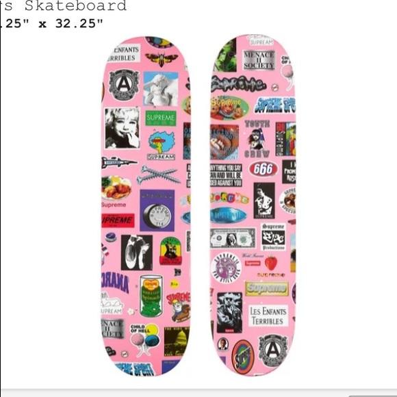 "Supreme Stickers Skateboard 🛹 Deck 8.25"" x 32.25"""